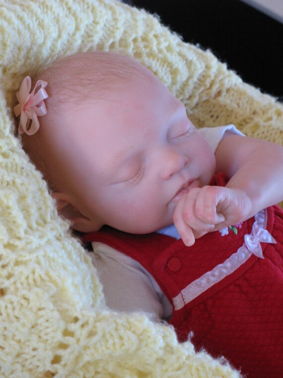 Reborn baby girl, heirloom doll, Alexa by Natalie Blick, now baby Hannah, newborn