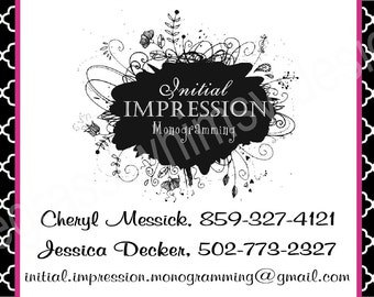 Custom Business Card with Your Business Logo