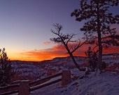 Sunrise at Bryce Canyon  - Vintage Photograph  - Vintage Photograph
