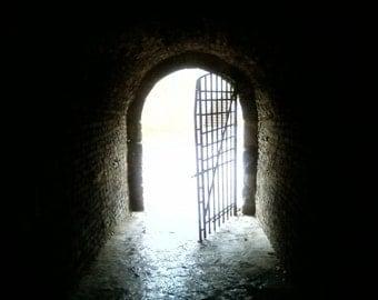 Doorway Castle Wall  - Vintage Photograph  - Fine Art Photography, Photographic Art