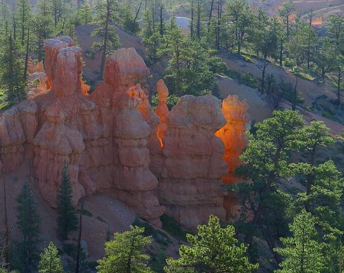 Cross Stitch Pattern of Bryce Canyon Sunrise  - Vintage Photograph