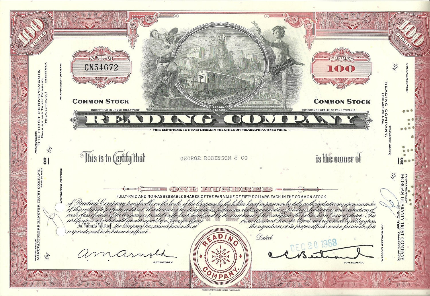 certificate reading