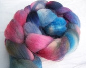 Monster Juice, 4 oz. Hand-dyed Blue-face Leicester (BFL) Top