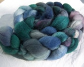 Land and Sea, 4 oz. Hand-dyed Blue-face Leicester (BFL) Top