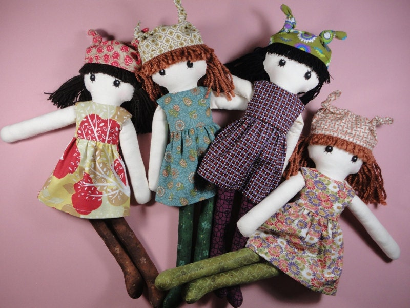 Cloth doll rag doll pdf pattern with detailed instructions