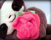 Cedric The Baby Sloth Plushie With Rose  (magnetic)