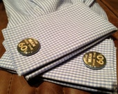 Cufflinks - '60 JFK - The Man for the 60s - Campaign Buttons - Political - Unique - New