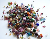 Glass Beads, Reclaimed, Mixture of Sizes and Colors, 100pcs