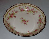 "SOLD Set of 8 Limoges Bowls 5"" Fruit or Dessert Elite Works Bawo and Dotter B&D Pink Flowers Floral Antique"