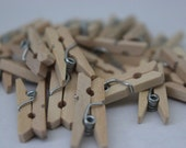 25 Mini Clothespins for Scrapbooking and Decor