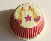 NEW 50 Pack of Giraffe Carnival Circus Cupcake Liners