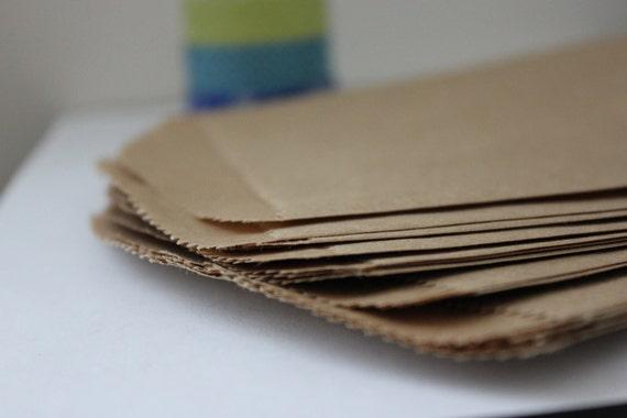 50 5 x 7.5 Kraft Flat Merchandise Bags