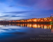 8 x 12 Fine Art Photography Print, Color Waterscape of Washington, DC's Georgetown from across the Potomac
