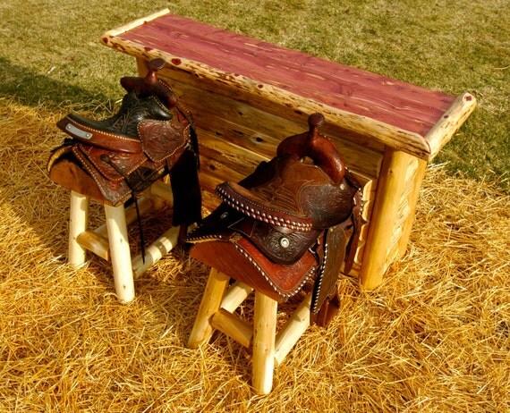 & One Authentic Western Horse Saddle Bar Stool islam-shia.org