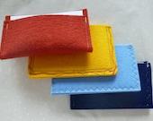 ArtAK MINI Card Wallet /Card Holder / Pocket Wallet / Clutch Wallet. Mother's Day Gift. 100% Wool Felt