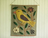 Vintage Unique Bird Woven Wall Hanging