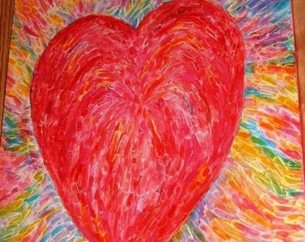 Love With Passion Giclee' on Canvas