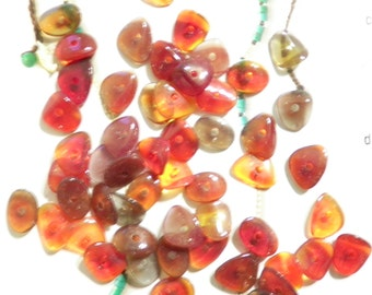 72 Vintage Glass Assorted Stringing Stones with Hole