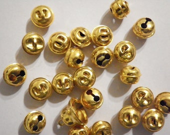 36 Vintage 10mm Goldplated Jingle Bells