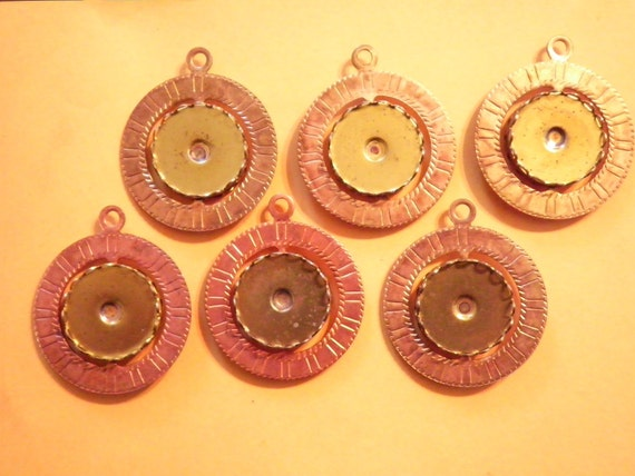 6 Vintage Coppercoated Spinner Pendant with 18mm Spinning Setting