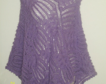 poncho knitted angora wool.