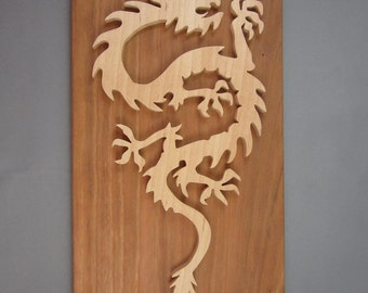 Dragon On A Cherry Plaque