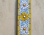 Daisies Mosaic Wall Plaque, Decor, Indoor,Outdoor Ornament