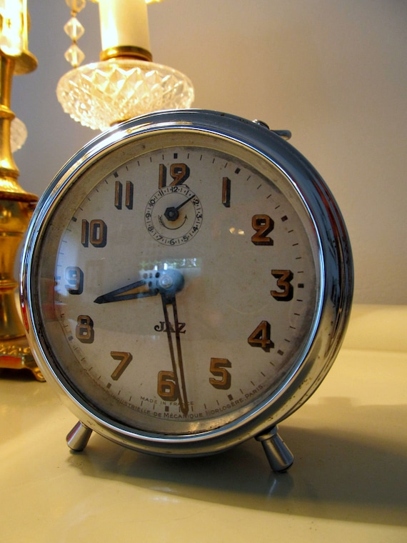 25 off vintage alarm clock gorgeous french jaz brand by for Brands of alarm clocks