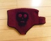 RESERVED FOR MEGAN - Crochet Skull Dog Sweater