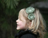 Upcycled Flowered Headband - Your Dress, My Creation -Turn Your Dress into Something She Can Wear Forever