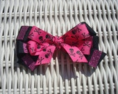 Pink Pirate Hair Bow