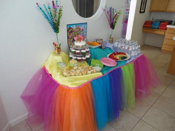 Tutu Table Skirt Custom Made Wedding Birthday By