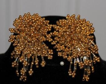 Fancy Gold Bead Earrings