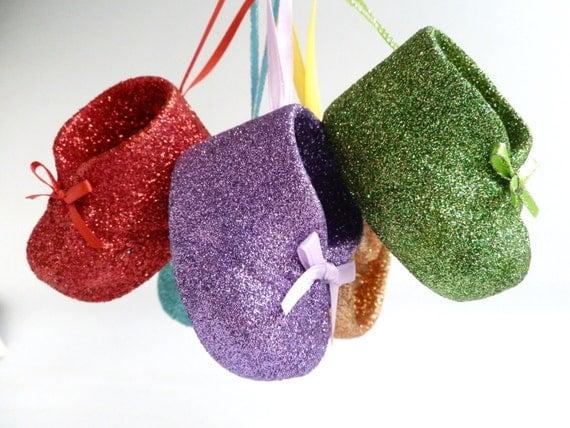 Amethyst Purple Shoe Ornament