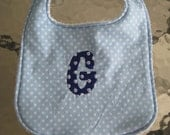 Custom made, monogrammed and/or embroidered baby bibs
