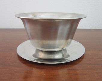 Mid Century Stainless Steel Nut Bowl Made in Denmark