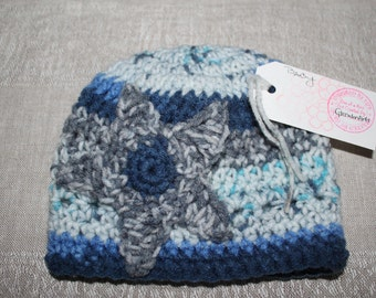 Baby variegated blue star hat