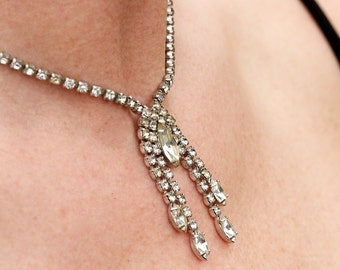 Vintage Wiesner Rhinestone Necklace