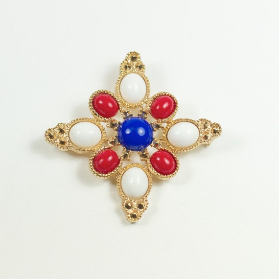 Vintage Sarah Coventry Americana Brooch Designed by Delizza & Elster