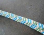 Blue, Green, and Tan chevron friendship bracelet