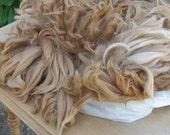 Suri Alpaca Fiber, 13.2 ounces, Light Brown w White