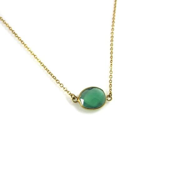 Wisdom: Green Onyx Healing Gem Necklace