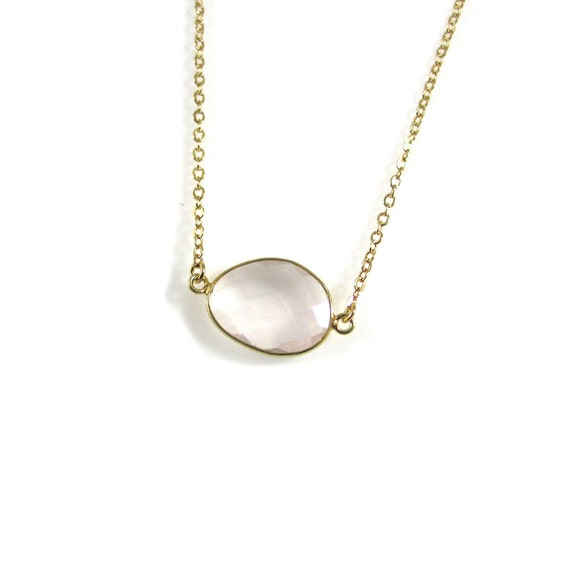 Love: Rose Quartz Crystal Healing Necklace