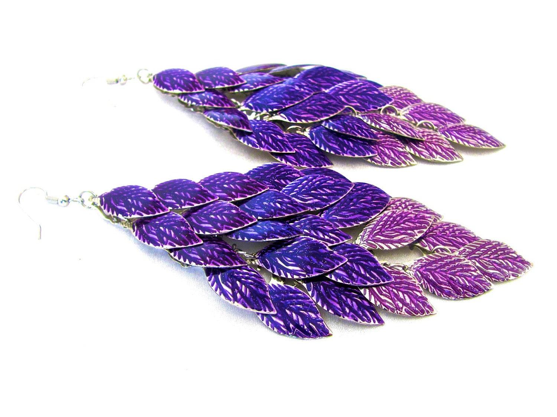 Purple Earrings Chandelier Earrings Amethyst Earrings