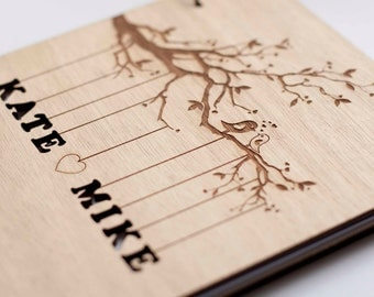 Wedding Guest Book Wedding Guestbook Custom Guest Book Rustic Guestbook Personalized Customized Custom Design Wedding Gift Keepsake Rustic