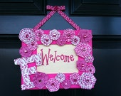 Personalized Monogram Welcome Sign