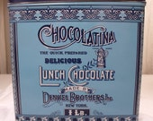 Denkel Brothers Chocolatina Lunch Chocolate Tin - Blue Turquoise