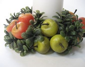 Cute Plastic Apples Candle Wreath
