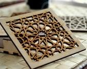 Wood Coasters - Islamic Geometric Pattern