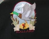 "Embroidered ""Mallard Duck"" Hunting Sweatshirt"